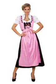Roze tiroler jurk lang OP=OP