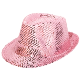 Tribly hoed roze paillet
