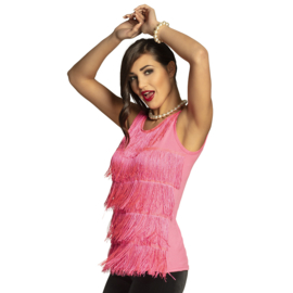 Flapper topje 20's neon pink