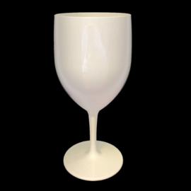 Kunststof wijnglazen  27cl wit 6 stuks