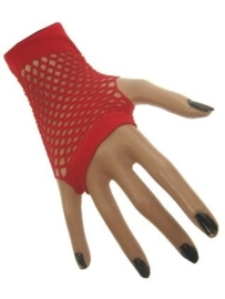 Net handschoenen rood