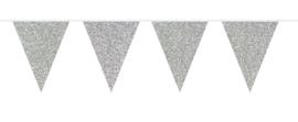 Vlaggenlijn glitter zilver