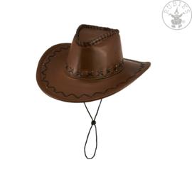 Cowboyhoed deluxe bruin | kwaliteit