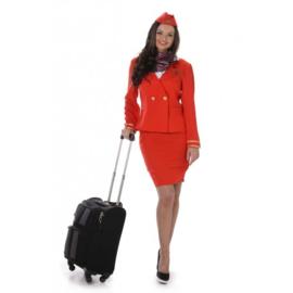 Stewardess jurkje rood