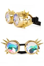 Steampunkbril goud