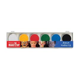 Waterschmink palet 6 kleuren