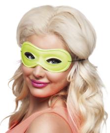 Neon oogmasker geel