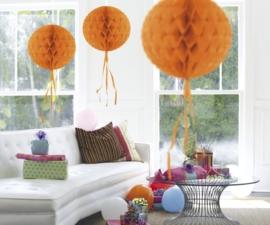 Honeycomb deco oranje