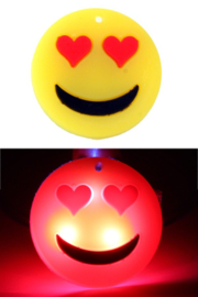 Smiley hartje pin lichtgevend