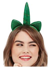 St. Patricks Day Metallic Unicorn Haarband
