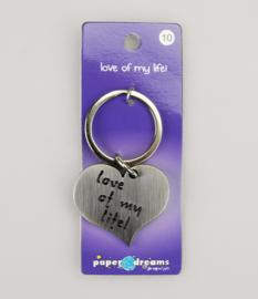 Sleutelhanger metal hart love life