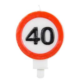 Kaarsjes 40 jaar verkeersbord