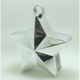 Star ballongewicht metallic zilver