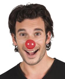 Plastic clowns neuzen 6 stuks