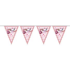 Vlaggenlijn roze meisje