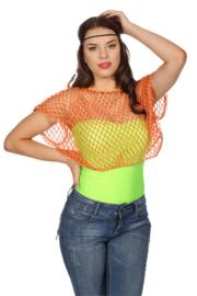 Netshirt kort Neon oranje 80's