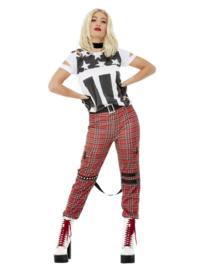 Punk rocker kostuum dames
