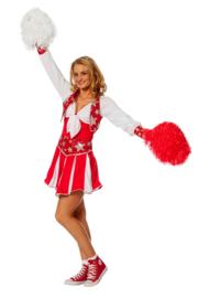 Cheerleader jurk luxe rood