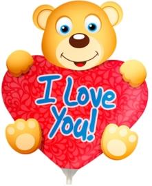 Folieballon mini shape I love you