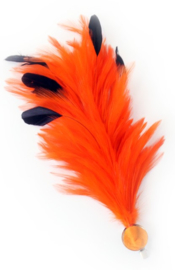 Verenpluim oranje 30cm clip
