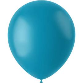 Ballonnen Calm Turquoise Mat 33cm - 50 stuks