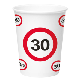 Bekertjes 30 jaar traffic sign