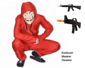 La casa de Papel kostuum, masker en geweer