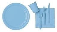 Licht blauwe feest servetten