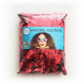 Confetti metallic rond 10mm 250 gram rood
