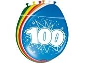 Ballonnen 100 jaar (assorti kleuren)