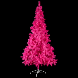 Kunst kerstboom hotpink 210cm