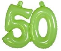 Opblaascijfer 50