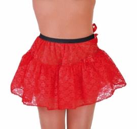 Petticoat kort kant rood