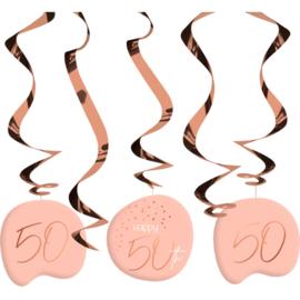 Hangdecoratie Elegance lush blush 50 jaar