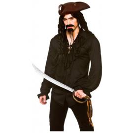 Piraten shirt luxe zwart