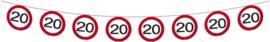 Slinger 20 jaar verkeersbord