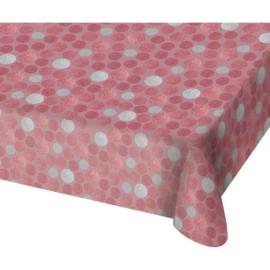 Tafelkleed glossy pink zilver