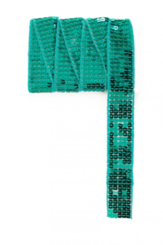 Paillettenband recht groen 3m