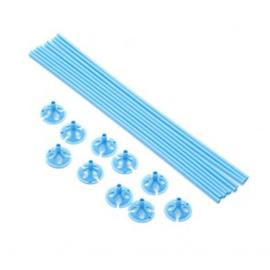 10 ballon sticks 40cm licht blauw