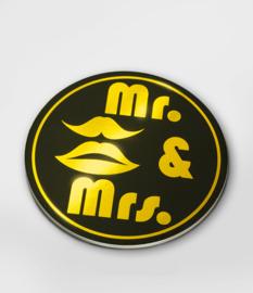 Glossy onderzetters mr & mrs
