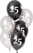 Ballonnen Glossy Black 25 Jaar