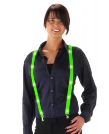 Neon groene bretels met led