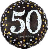 Folieballon birthday sparkling 50 (45cm)