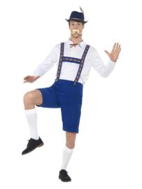 Oktoberfest kostuum Bavaria blauw