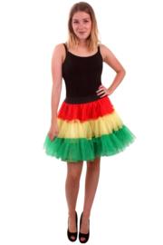 Petticoat 3-laags groen / geel / rood