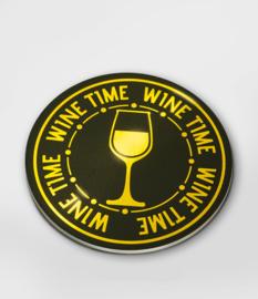 Glossy onderzetters wine time