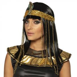 Pruik Egyptische koningin met hoofdband