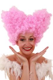 Pruik Lucy roze
