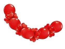 Hartenballonnen slinger