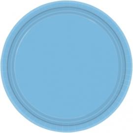 Lichtblauwe bordjes